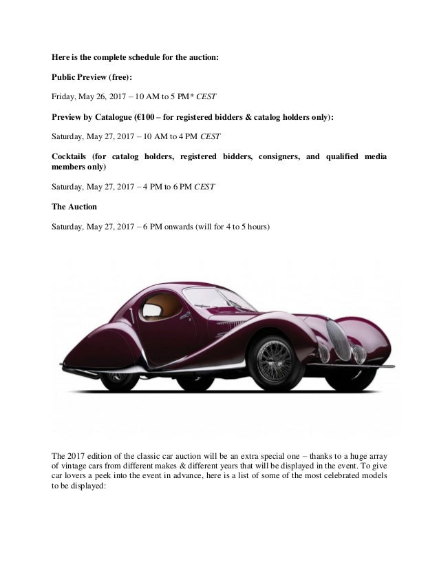 Vintage car auction at villa ebra, lake como – get nostalgic this sum…