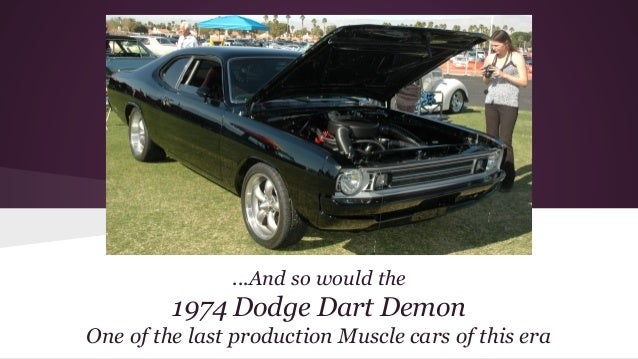 Digital Photography Vintage Muscle Car Presentation