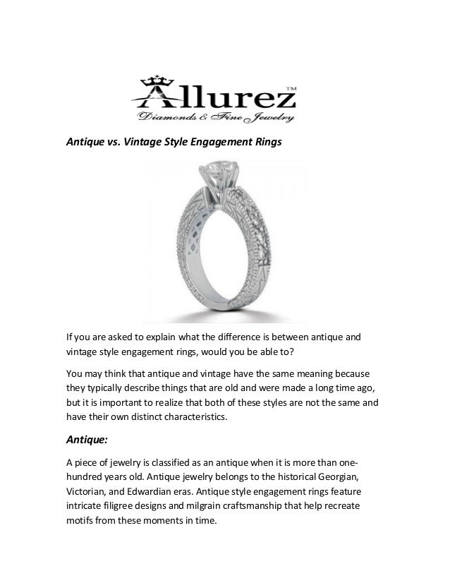 Vintage Vs Antique >> Antique Vs Vintage Style Engagement Rings