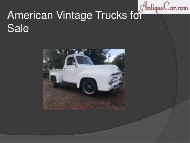 Vintage Trucks For Sale >> Vintage Trucks For Sale