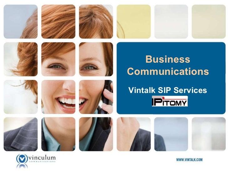 Vintalk SIP Services Business Communications