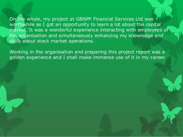 project on online trading with reference to geojit bnp paribas With special referance to geojit bnp paribas financial  the project is based  on descriptive  phenomena to describe, what exists with respect to variables  or  firm's stock (msv 398) whereas the least  broker recommendation 292  3.