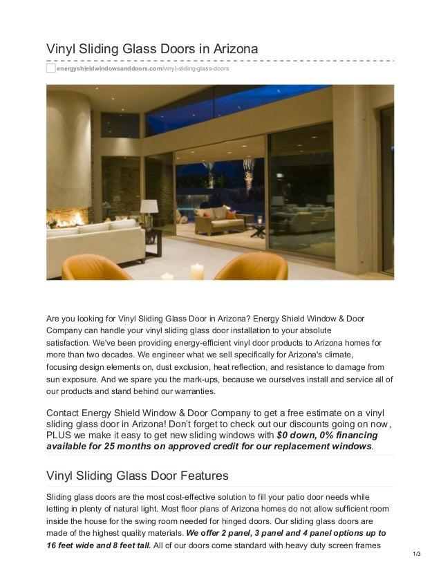 Vinyl Sliding Glass Doors In Arizona  Energyshieldwindowsanddoors.com/vinyl Sliding Glass  ...