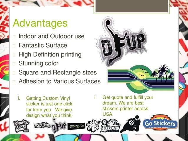 High Quality Vinyl Sticker - Custom vinyl stickers for cars   the advantages