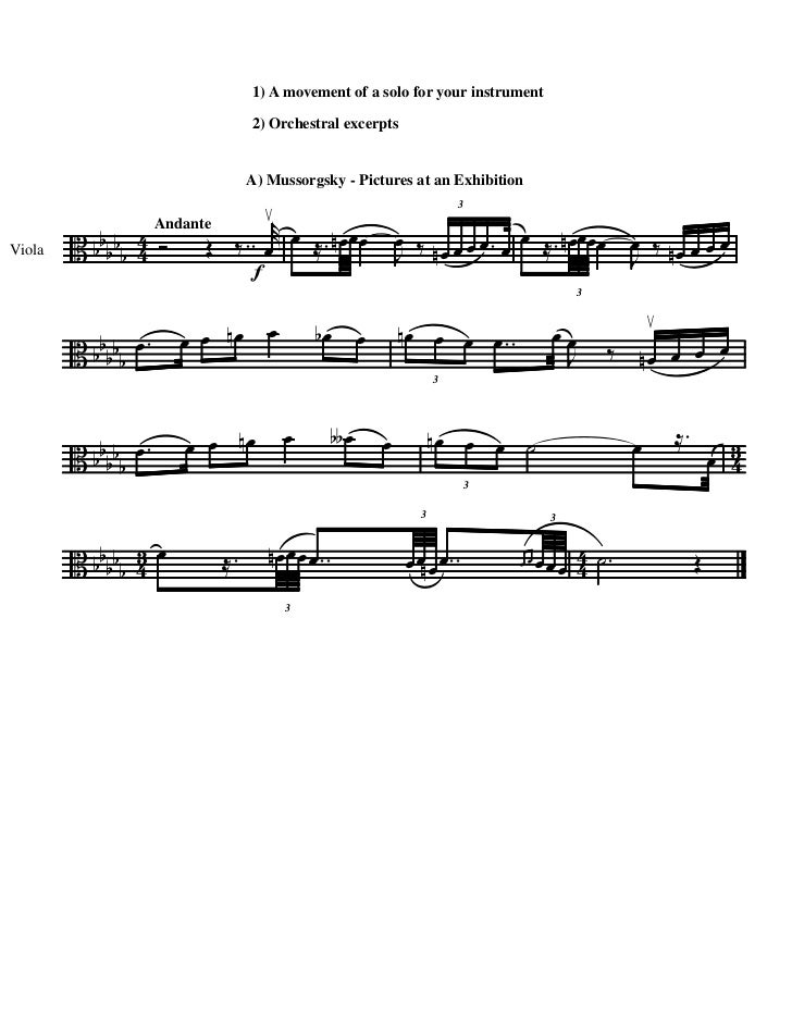 1) A movement of a solo for your instrument                                2) Orchestral excerpts                         ...