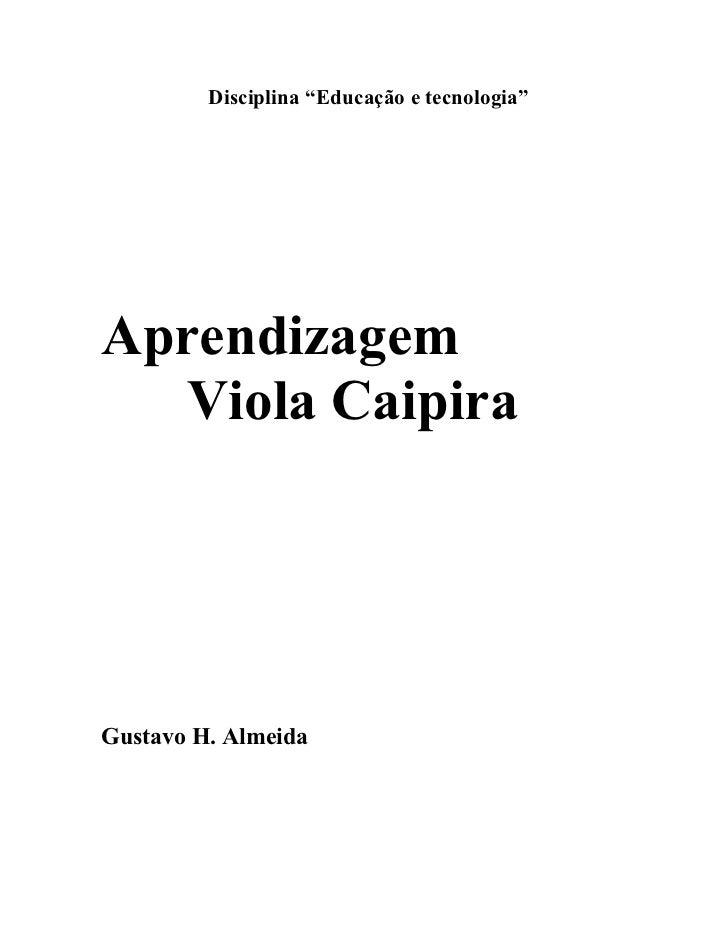 Viola caipira aprende