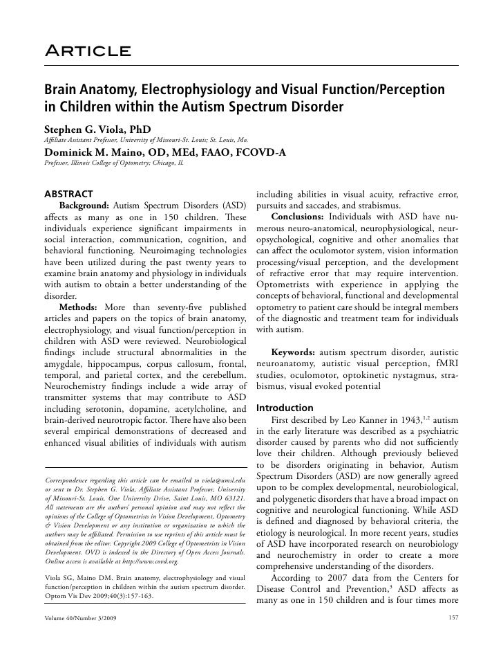 Brain Anatomy, Electrophysiology And Visual
