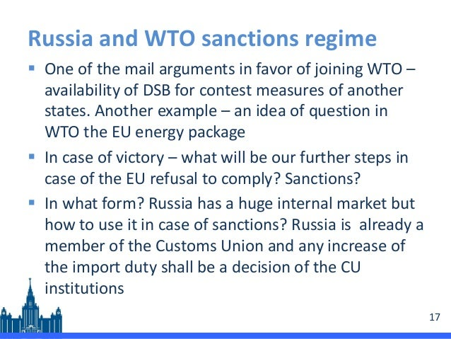 russia wto Russia became the seventh world trade organization member to challenge president trump's steel and aluminum tariffs on monday, filing a complaint to that effect with the wto.