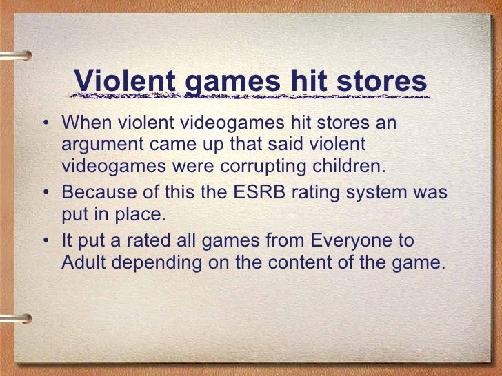 violence in video games violent games