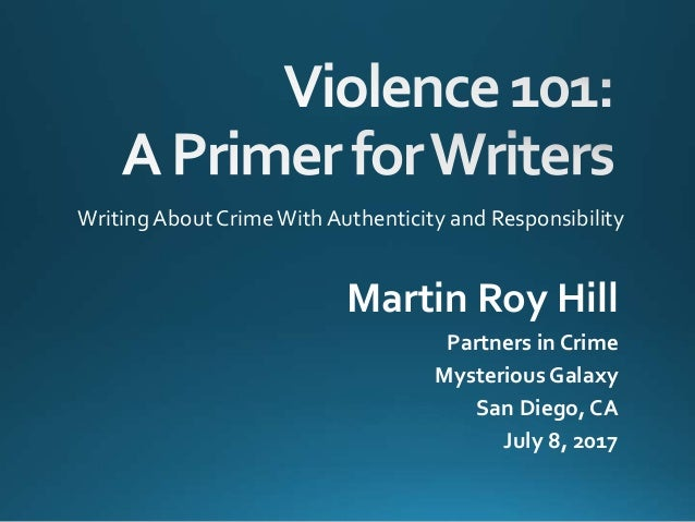 Violence 101: A Primer for Writers
