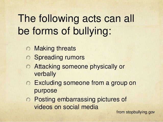 Violence Against Bullies