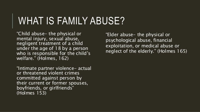 Sexual abuse in the family