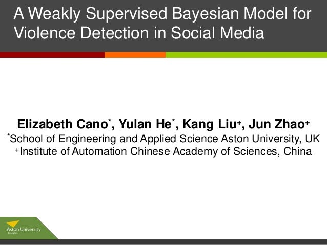 A Weakly Supervised Bayesian Model for Click to edit Master subtitle style Violence Detection in Social Media  Elizabeth C...