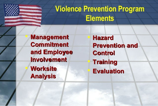 Violence in the Worplace - Hazard and Controls