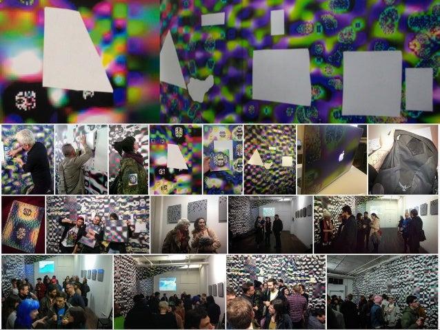 Rosa Menkman, Beyond Resolution. 2015. Wall installation.