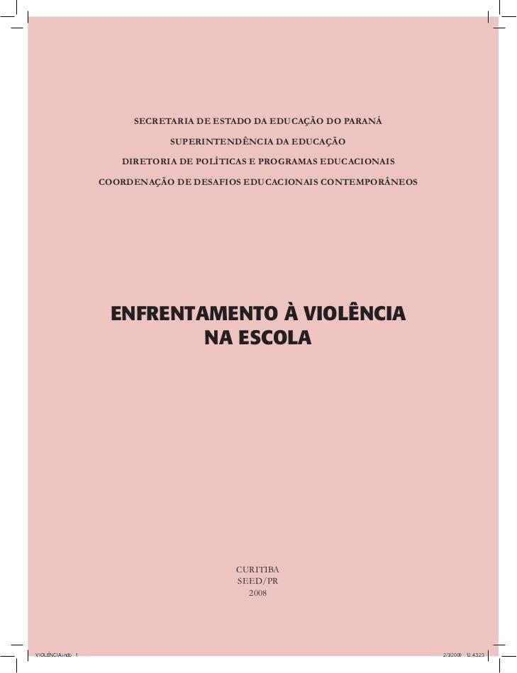 SECRETARIA DE ESTADO DA EDUCAÇÃO DO PARANÁ                              SUPERINTENDÊNCIA DA EDUCAÇÃO                      ...