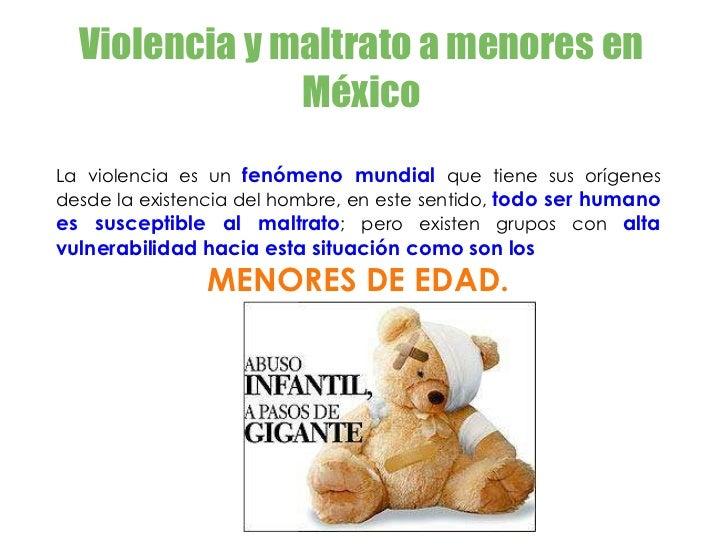 Violencia a menores en México Slide 2