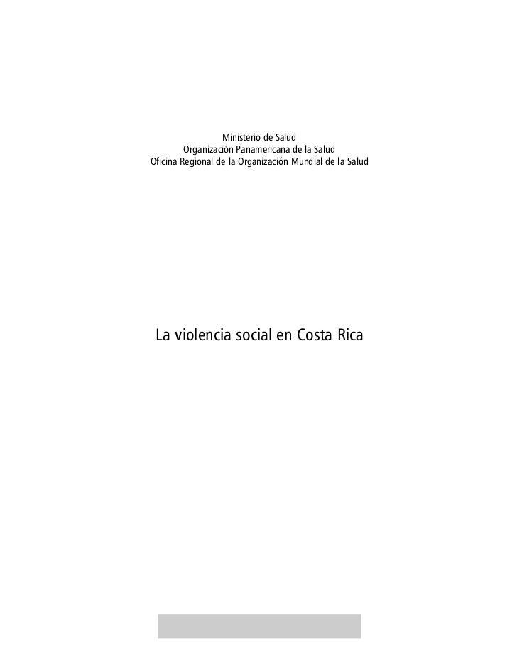 Ministerio de Salud         Organización Panamericana de la SaludOficina Regional de la Organización Mundial de la Salud L...