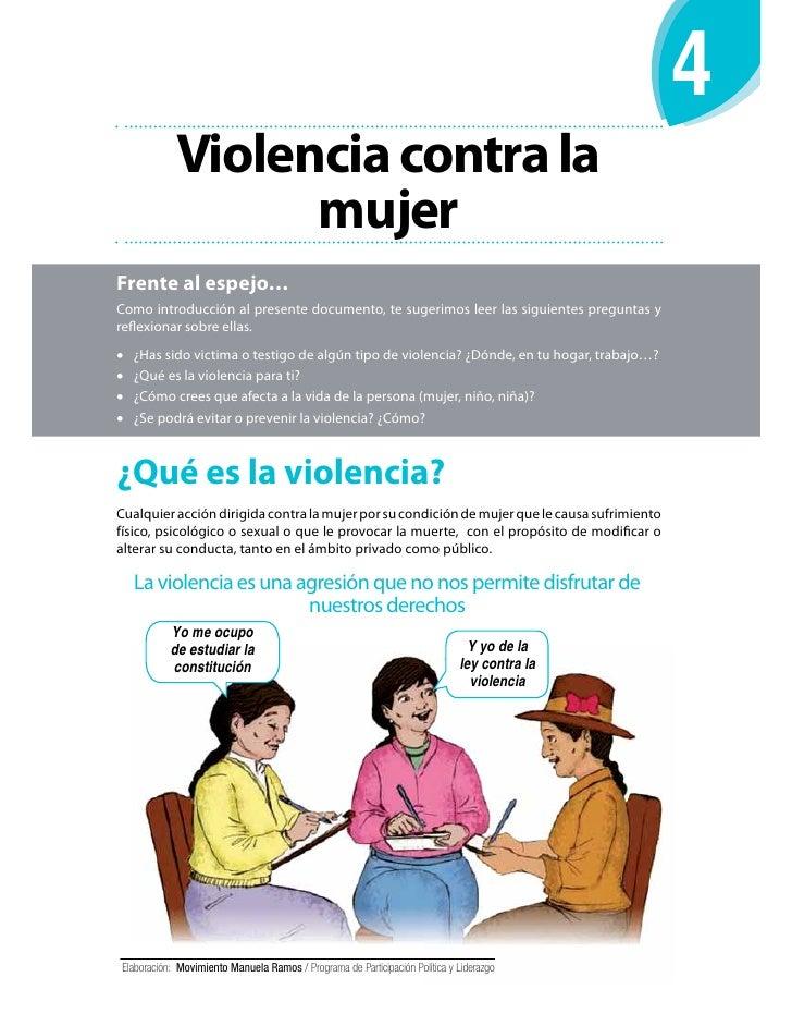 Violencia contra la                  mujerFrente al espejo…Como introducción al presente documento, te sugerimos leer las ...