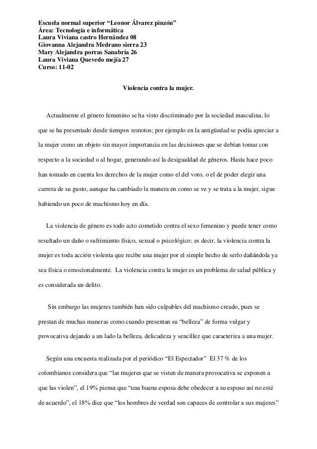 "Escuela normal superior ""Leonor Álvarez pinzón"" Área: Tecnología e informática Laura Viviana castro Hernández 08 Giovanna ..."