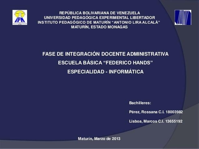 "REPÚBLICA BOLIVARIANA DE VENEZUELA   UNIVERSIDAD PEDAGÓGICA EXPERIMENTAL LIBERTADORINSTITUTO PEDAGÓGICO DE MATURÍN ""ANTONI..."