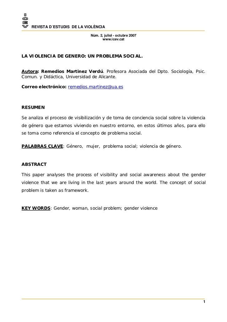 REVISTA D´ESTUDIS DE LA VIOLÈNCIA                                 Nùm. 2, juliol - octubre 2007                           ...