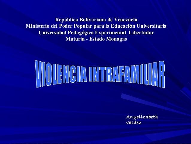 República Bolivariana de VenezuelaMinisterio del Poder Popular para la Educación Universitaria     Universidad Pedagógica ...