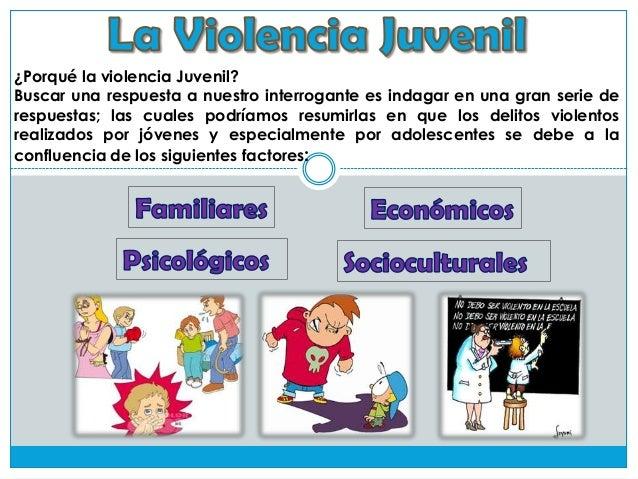 ¿Porqué la violencia Juvenil? Buscar una respuesta a nuestro interrogante es indagar en una gran serie de respuestas; las ...