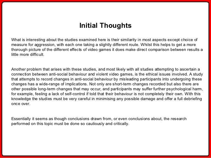 Argumentative-Video Game Violence Example | Graduateway