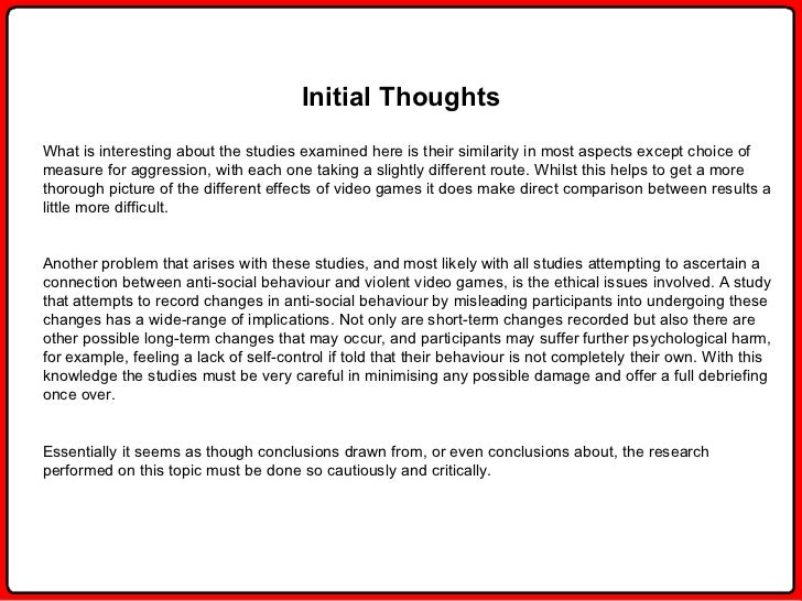 video game research paper