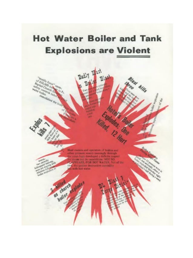 Why Are Hot Water Boiler and Tank Explosions So Violent?