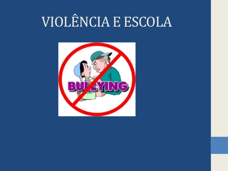 VIOLÊNCIA E ESCOLA<br />