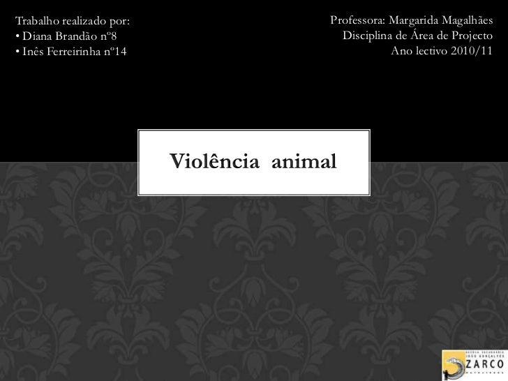 Professora: Margarida Magalhães<br />Disciplina de Área de Projecto<br />Ano lectivo 2010/11<br />Trabalho realizado por:<...
