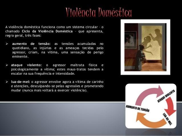 A violência doméstica funciona como um sistema circular – o chamado Ciclo da Violência Doméstica – que apresenta, regra ge...