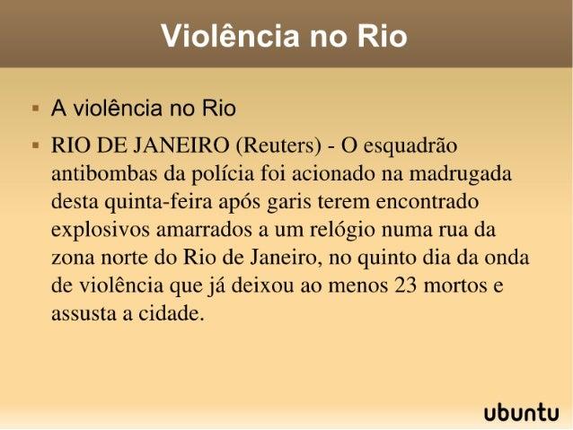 Violência no rio slad