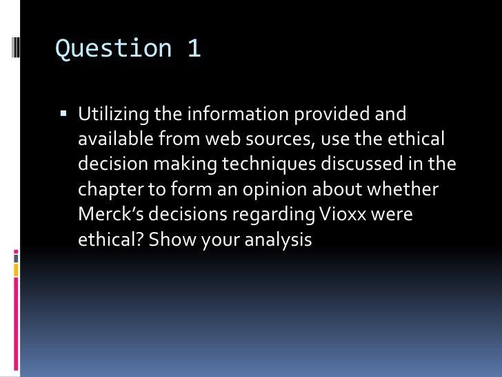 merck and vioxx analysis