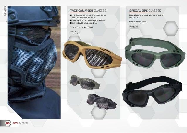 Viper Tactical Mesh Glasses Green