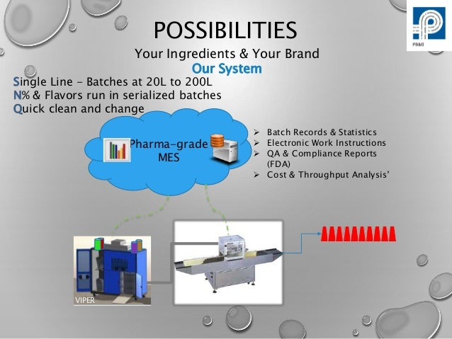 Viper Self-contained  E-Liquid Compounding System Overview Slide 3