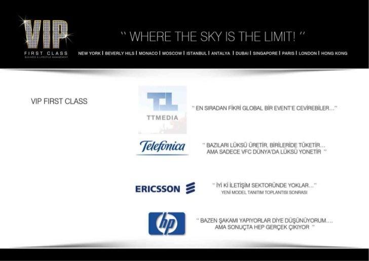 Vip First Class Turkey 2012