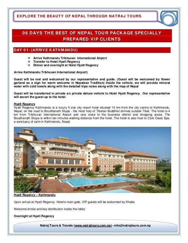 EXPLORE THE BEAUTY OF NEPAL THROUGH NATRAJ TOURS Natraj Tours & Travels (www.natrajtours.com.np) –info@natrajtours.com.np ...