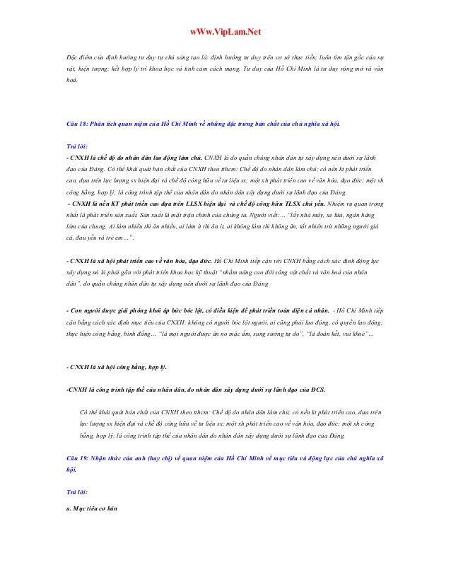 wWw.VipLam.Net Đặc điểm của định hướng tư duy tự chủ sáng tạo là: định hướng tư duy trên cơ sở thực tiễn; luôn tìm tận gốc...