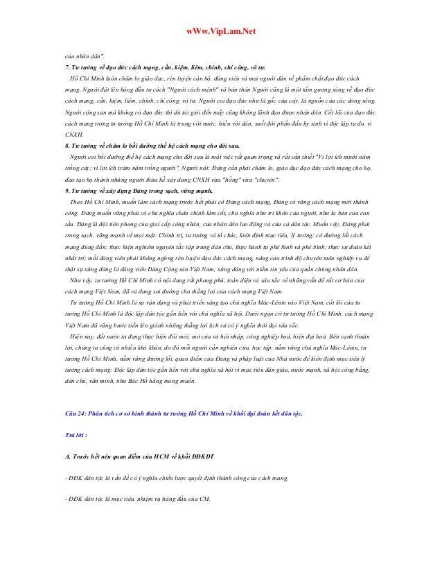 """wWw.VipLam.Net của nhân dân"""". 7. Tư tưởng về đạo đức cách mạng, cần, kiệm, liêm, chính, chí công, vô tư. Hồ Chí Minh luôn ..."""