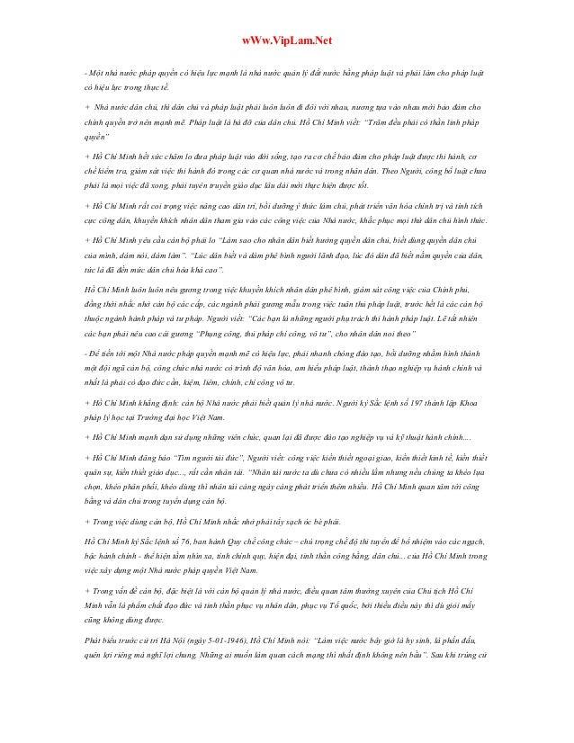 56 câu hỏi tự luận và đáp án chi tiết Tư Tưởng Hồ Chí Minh