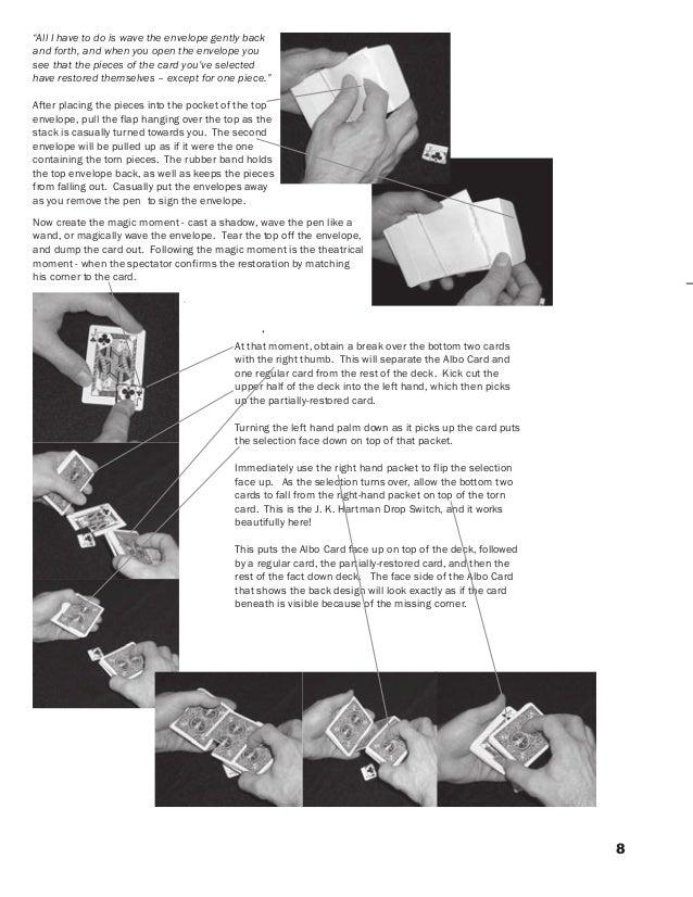TORN /& RESTORED CARD RESTORE MAGIC TRICK CORNER BITE RIP VISUAL NEW CLOSE UP WOW