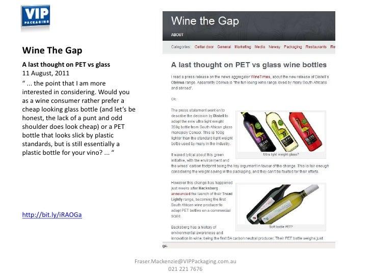 PET Wine Bottles ~ Recent Media & Euromonitor Info ~ VIP Packaging Slide 3