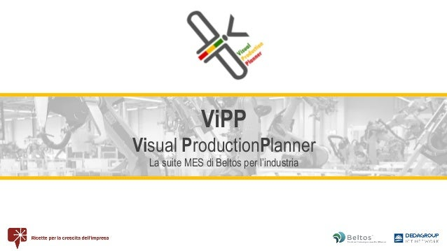 ViPP Visual ProductionPlanner La suite MES di Beltos per l'industria