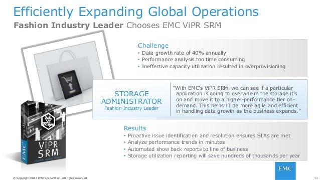 56© Copyright 2014 EMC Corporation. All rights reserved.© Copyright 2014 EMC Corporation. All rights reserved. Efficiently...