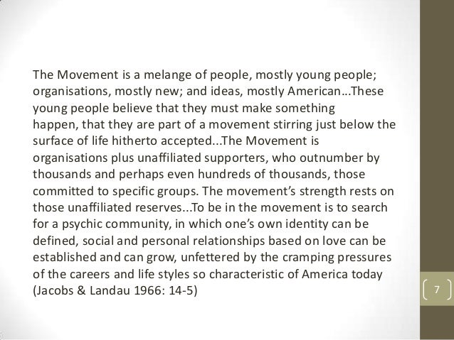 The Movement is a melange of people, mostly young people; organisations, mostly new; and ideas, mostly American...These yo...