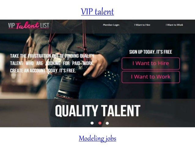 VIP talent Modeling jobs