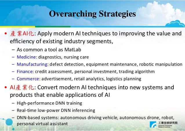 Technology Development Directions For Taiwan S Ai Industry